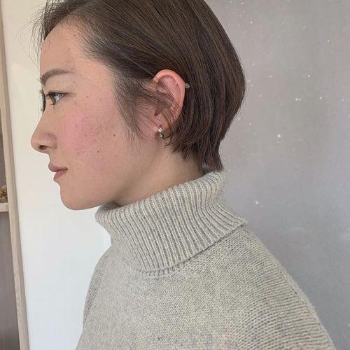 担当シオリ @shiori_tomii 成人式おわって20センチ以上バッサリカット#hearty#shiori_hair #ハンサムショート#ショートヘア #ショートボブ #ショートヘアアレンジ #高崎美容室#群馬美容室#高崎#群馬