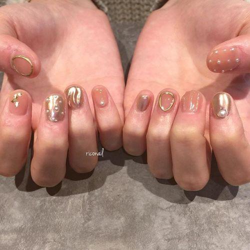 色味を抑えたヴィンテージネイル❦#riconail #HEARTY #abond #nail #nails #gelnail #gelnails #nailart #instanails #nailstagram #beauty #fashion #nuancenail #ネイル #ジェルネイル #ネイルデザイン #ニュアンスネイル #ヴィンテージネイル #ミラーネイル @riconail123