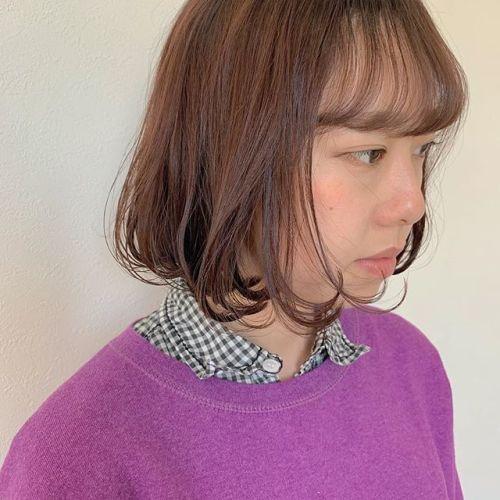 担当シオリ @shiori_tomii オレンジブラウン#hearty#shiori_hair #オレンジブラウン#オレンジカラー #ヘアスタイル#高崎美容室#群馬美容室#高崎#群馬
