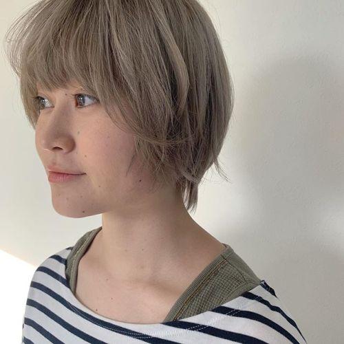 担当シオリ @shiori_tomii ケアブリーチをしてダメージレスなベージュにしました!透明感抜群です!#hearty#shiori_hair #ベージュ#アッシュベージュ#透明感カラー#高崎美容室#群馬美容室#高崎#群馬