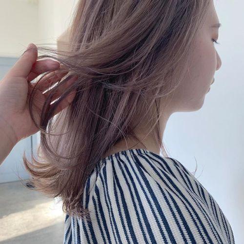 担当シオリ @shiori_tomii 明るめなラベンダーベージュ#hearty#shiori_hair #ラベンダーベージュ#ベージュ#高崎美容室#群馬美容室#高崎#群馬