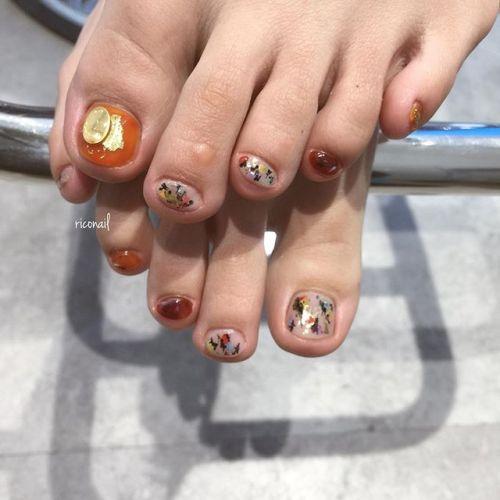 ハンド&フットのご予約も増えています♡̷施術時間はオフなしで3時間程です◡̈⃝#riconail #HEARTY #abond #nail #nails #gelnail #footnail #gelnails #nailart #instanails #nailstagram #beauty #fashion #nuancenail #ネイル #ジェルネイル #ネイルデザイン #フットネイル #ニュアンスネイル #個性派ネイル @riconail123
