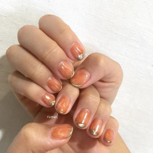 orange✩#riconail #HEARTY #abond #nail #nails #gelnail #gelnails #nailart #instanails #nailstagram #beauty #fashion #nuancenail #ネイル #ジェルネイル #ネイルデザイン #ニュアンスネイル #シアーネイル #個性派ネイル @riconail123