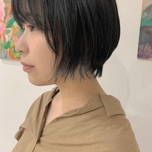 担当シオリ @shiori_tomii 毛先にさりげないブルーのポイントカラー#shiori_hair #hearty#ブルー#インナーカラー #ポイントカラー#グレージュ#高崎美容室#群馬美容室#高崎#群馬