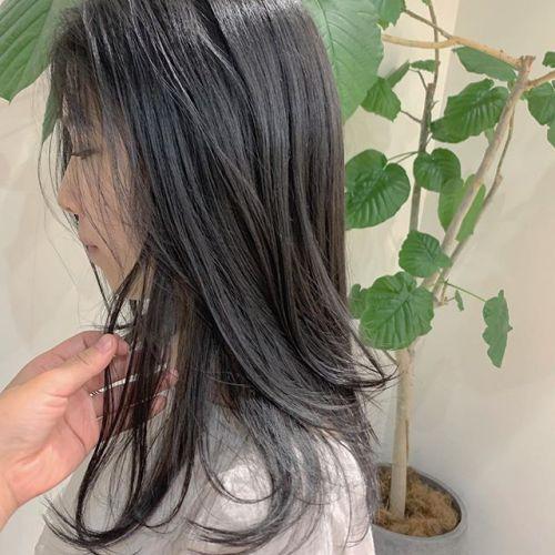 担当シオリ @shiori_tomii 黒染めせずにディープグレーで#hearty#shiori_hair #ディープグレー#グレージュ#黒染め#高崎美容室#群馬美容室#高崎#群馬