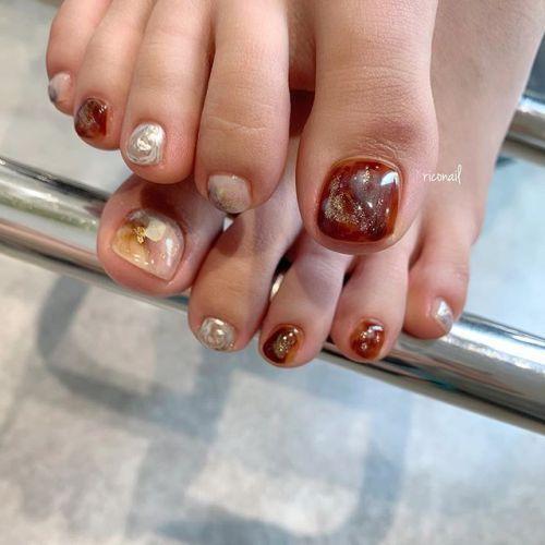 footnail#riconail #HEARTY #abond #nail #nails #gelnail #footnail #gelnails #nailart #instanails #nailstagram #beauty #fashion #nuancenail #ネイル #ジェルネイル #ネイルデザイン #フットネイル #フットケア #ニュアンスネイル #個性派ネイル @riconail123