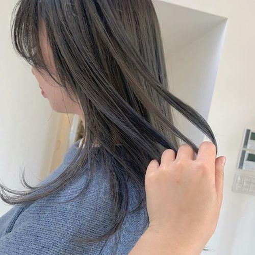 担当シオリ @shiori_tomii ハスキーグレー#hearty#shiori_hair #ハスキーグレー#グレージュ #高崎美容室#群馬美容室#高崎#群馬