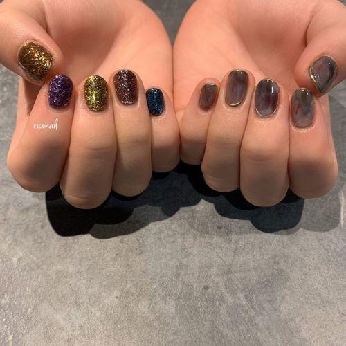 お客様のお気に入りのアーティストをイメージしたネイル◡̈⃝ 全部の爪にちゃんと意味があります︎#riconail #HEARTY #abond #nail #nails #gelnail #gelnails #nailart #nuancenail #ネイル #ジェルネイル #ネイルケア #ニュアンスネイル #アシンメトリーネイル @riconail123