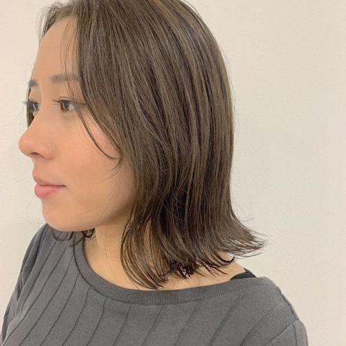 担当シオリ @shiori_tomii 黒髪からアッシュベージュへ#hearty#shiori_hair #アッシュベージュ#ベージュ#グレージュ#高崎美容室#群馬美容室#高崎#群馬
