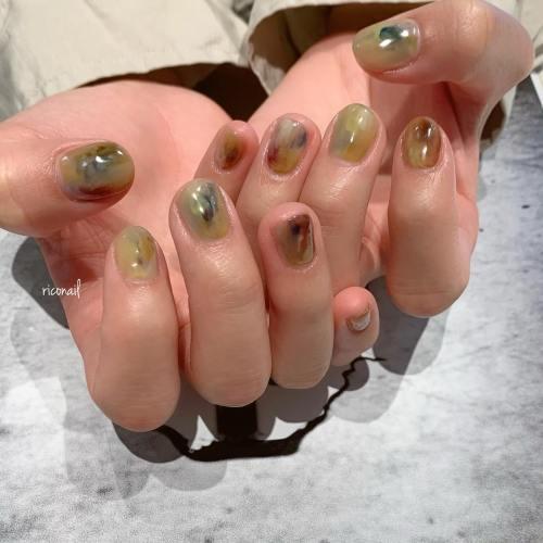 もやもや️♡#riconail #HEARTY #abond #nail #nails #gelnail #gelnails #nailart #nuancenail #高崎美容室 #ネイル #ジェルネイル #ネイルケア #ニュアンスネイル #シアーネイル #クリアネイル @riconail123
