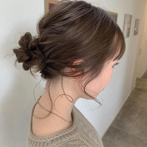 stylist シオリ @shiori_tomii #hearty#shiori_hair #ヘアアレンジ#ヘアセット#お団子ヘア #成人式ヘア #成人式ヘアセット #高崎美容室#群馬美容室#高崎#群馬