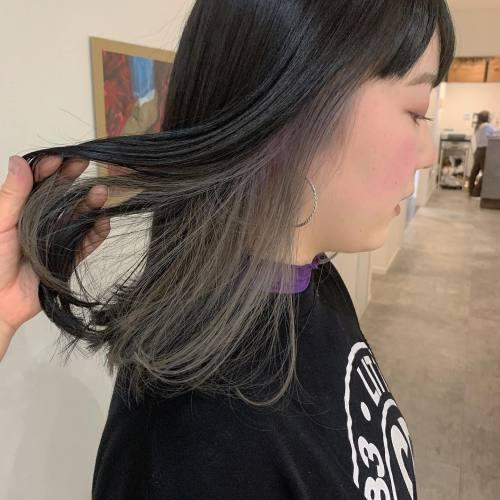 担当シオリ @shiori_tomii #hearty#shiori_hair #インナーカラー#ホワイトアッシュ#ホワイトカラー#ハイライト#高崎美容室#群馬美容室#高崎#群馬