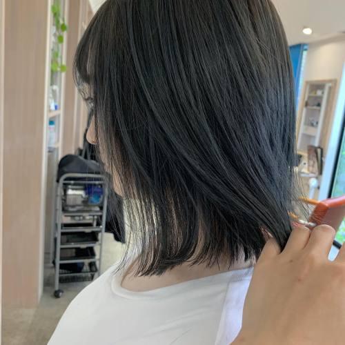担当シオリ @shiori_tomii ブルージュcolor#hearty#shiori_hair #ブルージュ#ブルーグレー#高崎美容室#群馬美容室#高崎#群馬