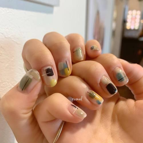 くすみカラー9色使いました✩#riconail #HEARTY #abond #nail #nails #gelnail #gelnails #nailart #instanails #nailstagram #beauty #fashion #nuancenail #ネイル #ジェルネイル #ネイルケア #ニュアンスネイル #個性派ネイル @riconail123