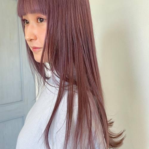 担当シオリ @shiori_tomii ピンクラベンダー#hearty#shiori_hair #ラベンダー#ラベンダーカラー #ピンクラベンダー#ピンクベージュ #ピンクアッシュ #高崎美容室#群馬美容室#高崎#群馬