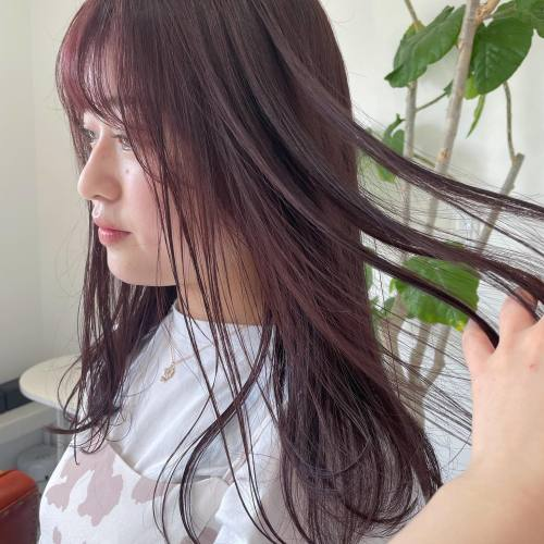 担当シオリ @shiori_tomii ラベンダーピンク☯️#hearty#shiori_hair #ラベンダーベージュ#ラベンダーピンク #ピンクベージュ#ピンクブラウン #高崎美容室#群馬美容室#高崎#群馬