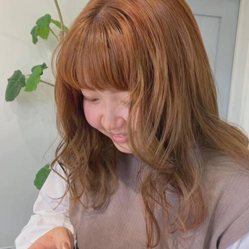 担当→コガワ @momokakogawa ブルーの色落ちからイメチェン🥕orange beige🥕🥕#オレンジカラー#オレンジベージュ#ベージュカラー#群馬美容室#高崎美容室
