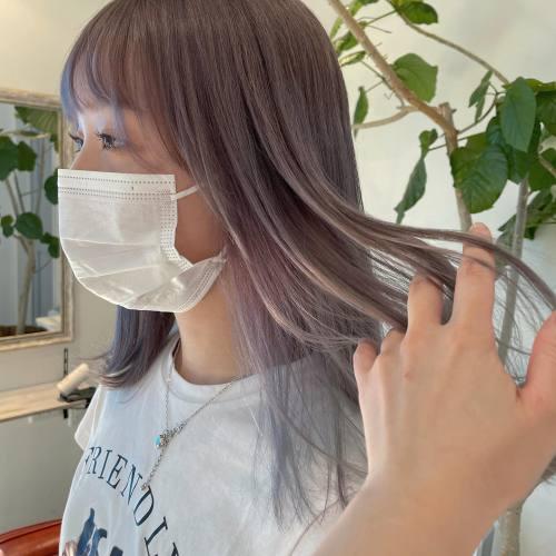 担当シオリ @shiori_tomii ラベンダーベージュ#hearty#shiori_hair #ラベンダー#ラベンダーグレージュ #ラベンダーカラー #ラベンダーアッシュ #グレージュ#アッシュグレー#高崎美容室#群馬美容室#高崎#群馬