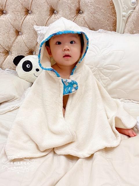 喜福吸水浴巾有機棉∥小斗篷連帽浴巾│