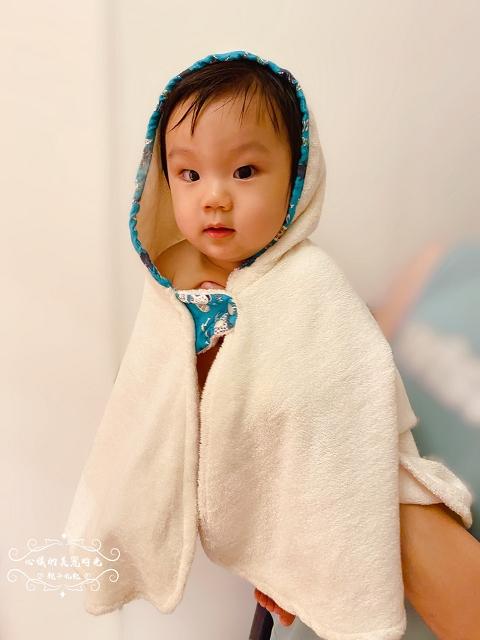 喜福吸水浴巾有機棉∥HIBOU小斗篷連帽吸水浴巾│