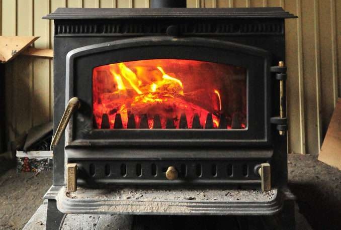 wood stove polish or paint