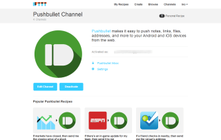 Pushbullet Channel   IFTTT