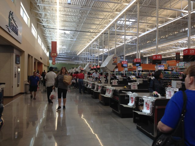 Lots of checkout lanes!