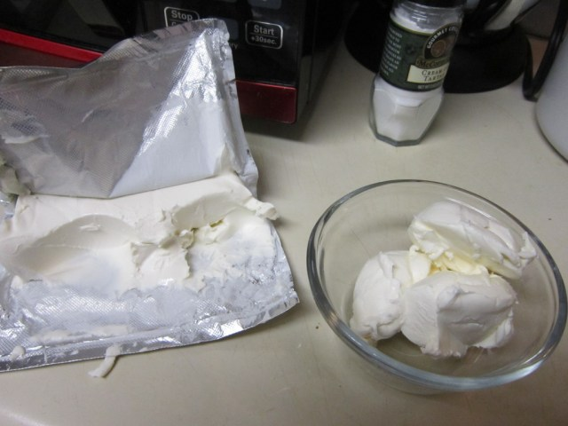 3 tablespoons of cream cheese