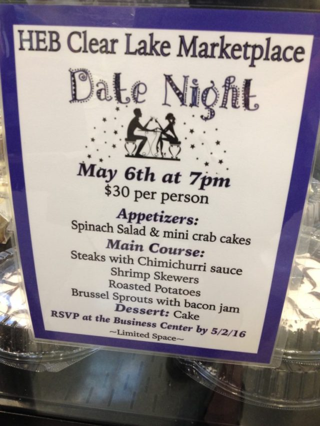 And why not take your date to HEB?