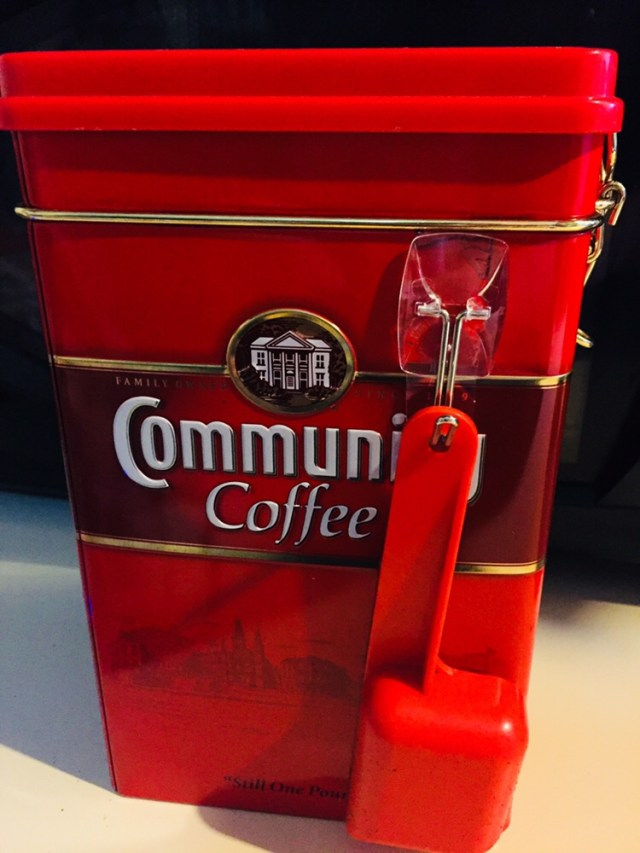 Command hook on coffee tin