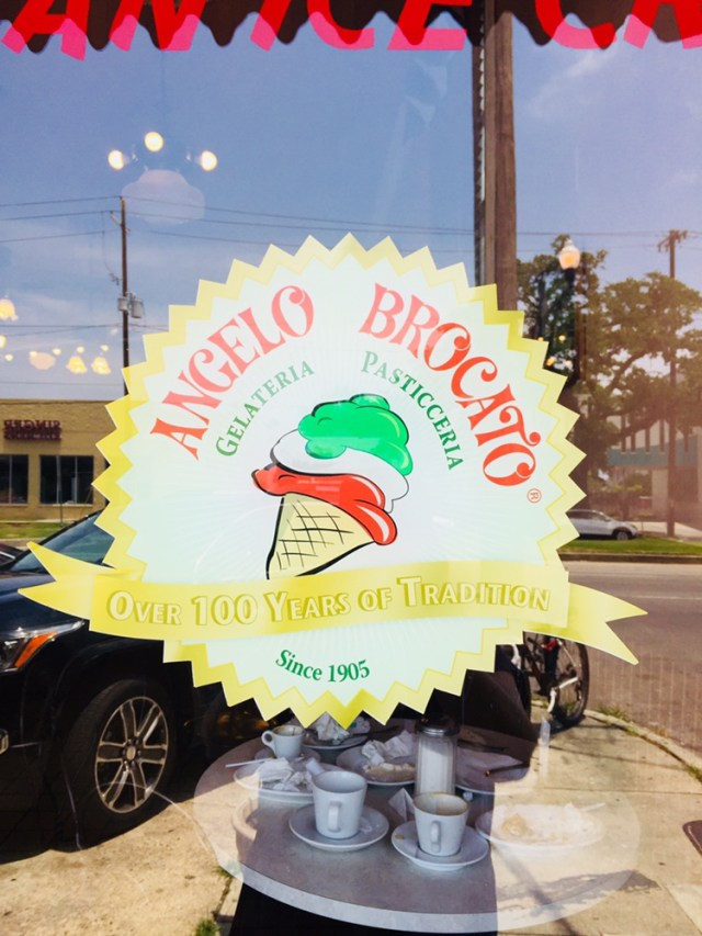 Angelo Brocato's Front Door Sign