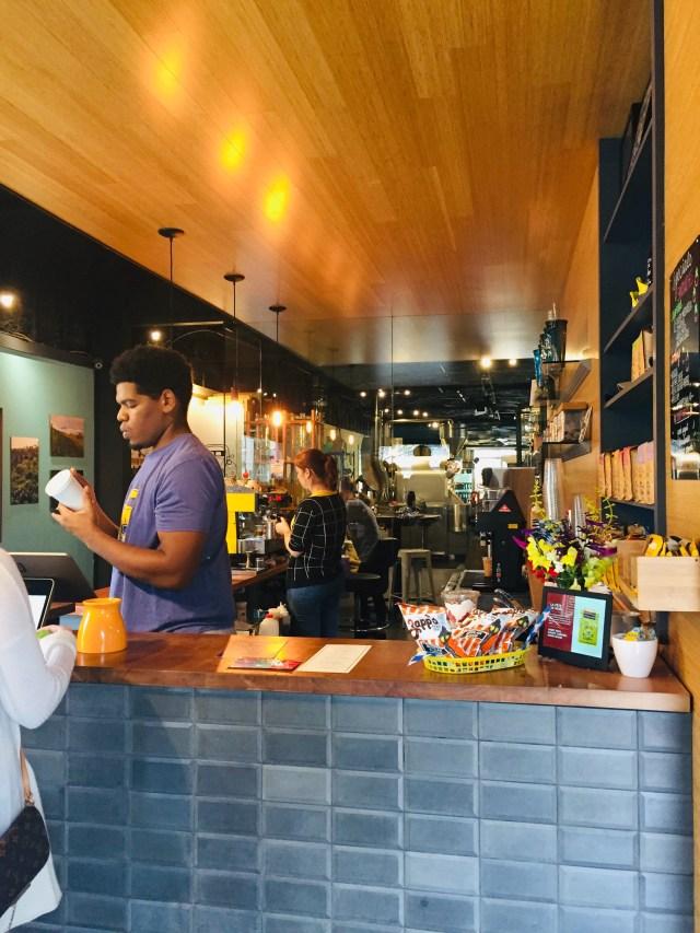Barista at the counter