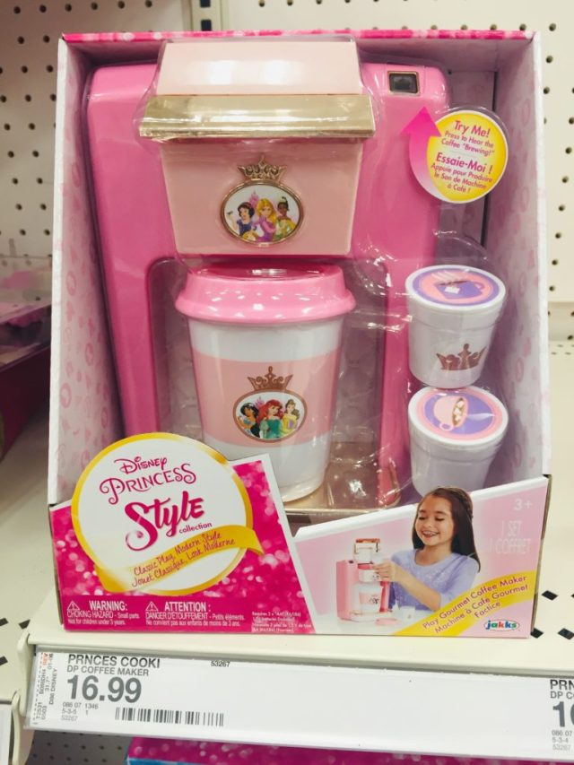 Pink Prnincess Coffee Maker toy for girls
