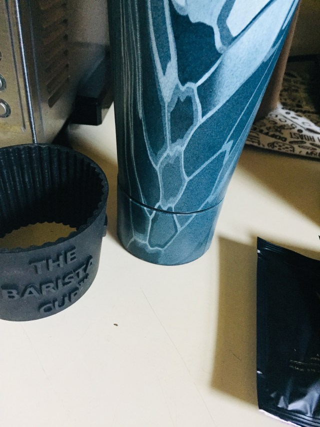 The Barista cup with rubber sleeve