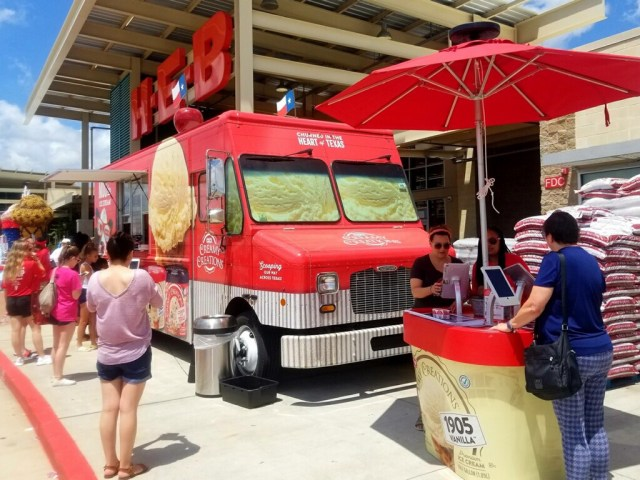 HEB ice cream truck