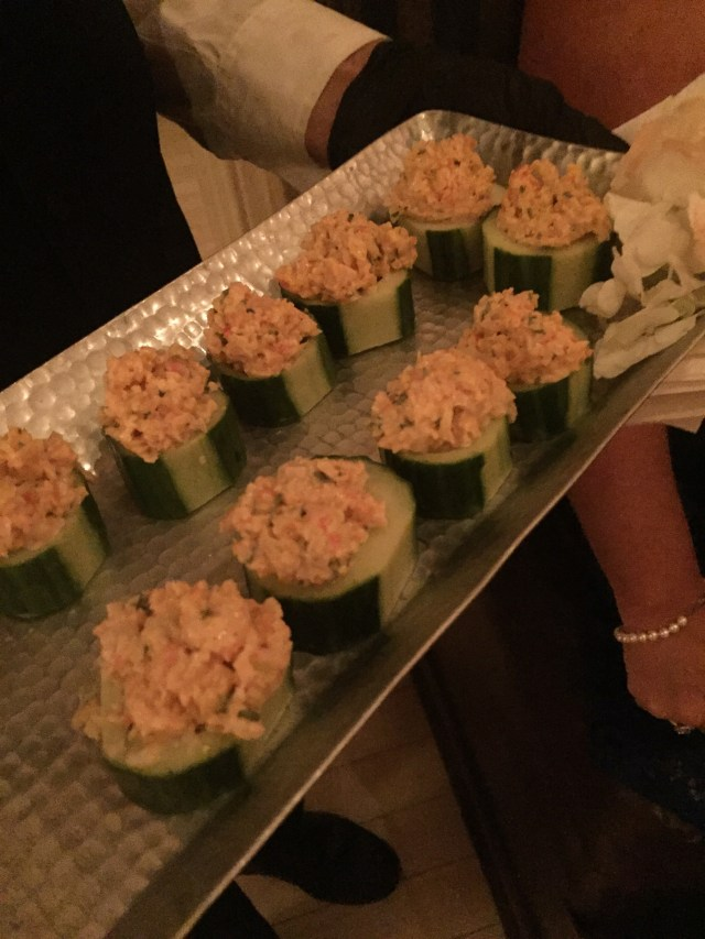Crab Salad on a cucumber