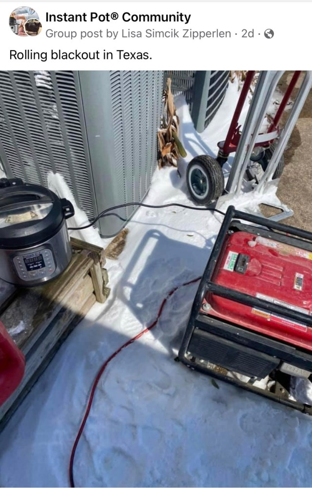 Instant Pot Plugged Into Generator