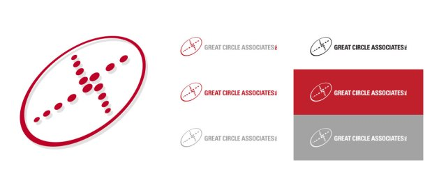 Great Circle Associates Branding and Identity Stationery package