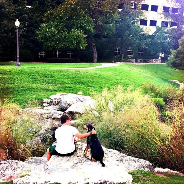 Kaylee and I on a rock
