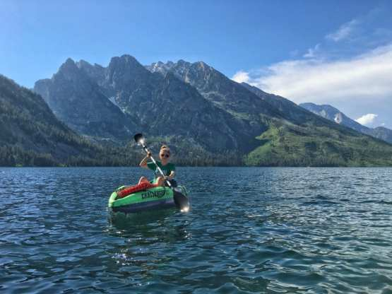 kayaking in the tetons