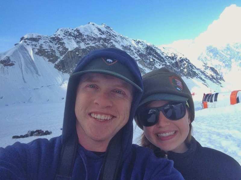 Alyssa and I on Mt. Denali in Alaska