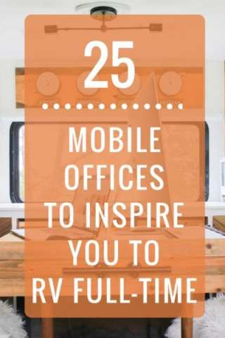 Ready to upgrade your work space? These 25 mobile office set-ups will inspire you to hit the road in an RV. http://heathandalyssa.com/mobile-office
