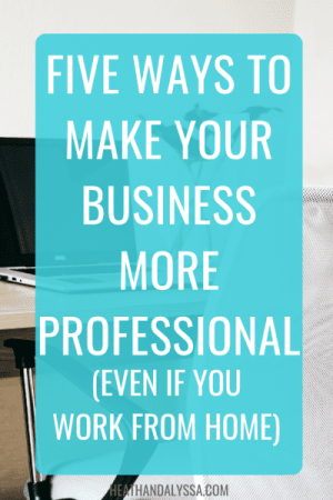 how to make your business more professional
