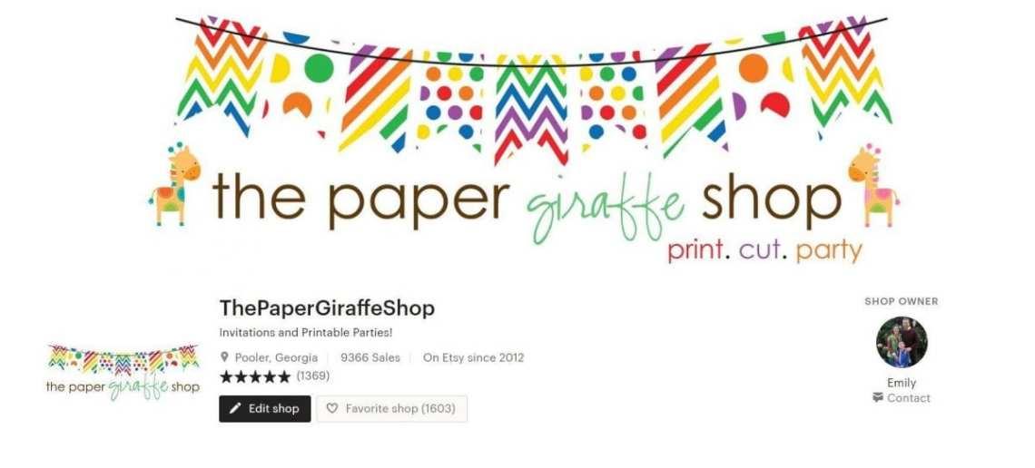 The Paper Giraffe Shop