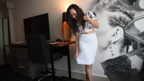 White 2 Piece Skirt and Shirt Set From BCBG Warehouse Sale