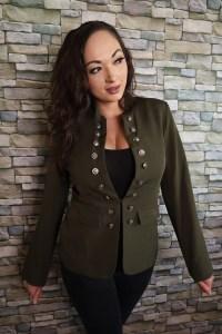 Luvamia spring haul Heather SPears weaing olive blazer jacket