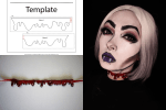 Halloween DIY Drip Necklace Tutorial and Template by Heather Spears