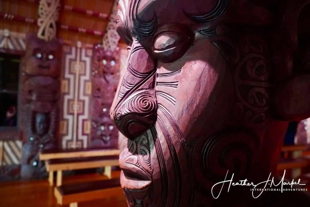 Maori statue