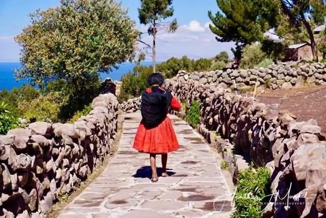 woman walking in Peru
