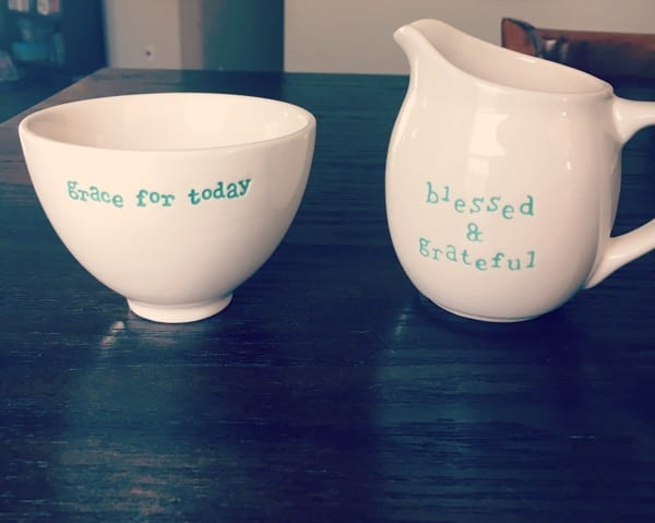 Be Blessed Monthly Giveaway: Daily Grace Sugar Bowl & Creamer Set by DaySpring